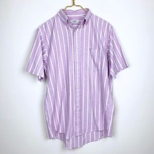 Men's Vintage Arrow Striped SS Button Up Shirt